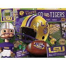 Officially Licensed NCAA  Wooden Retro Series Puzzle - LSU Tigers
