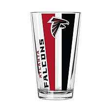 Officially Licensed NFL 16 oz. Vertical Decal Pint - Falcons