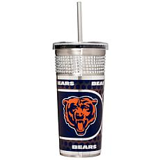 Officially Licensed NFL 16oz. Tumbler w/Straw - Chicago
