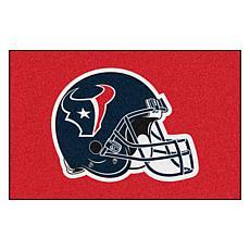 """Officially Licensed NFL 19"""" x 30"""" Helmet Logo Starter Mat - Texans"""