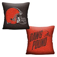 """Officially Licensed NFL 20"""" Invert Pillow - Browns"""