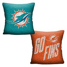 "Officially Licensed NFL 20"" Invert Pillow - Dolphins"