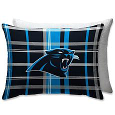 """Officially Licensed NFL 20"""" x 26"""" Plush Bed Pillow - Carolina Panthers"""
