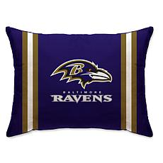 """Officially Licensed NFL 20"""" x 26"""" Plush Striped Bed Pillow - Ravens"""