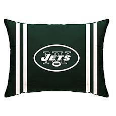 """Officially Licensed NFL 20"""" x 26"""" Plush Striped Bed Pillow - Jets"""