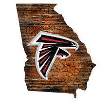 """Officially Licensed NFL 24"""" State Sign with Team Logo"""