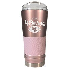 Officially Licensed NFL 24oz Rose Gold Draft Tumbler - 49ers