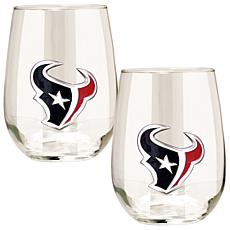 Officially Licensed NFL 2pc Wine Glass Set - Texans