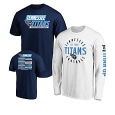 size 40 3b3d3 b7cc1 Officially Licensed NFL 3-in-1 T-Shirt Combo by Fanatics