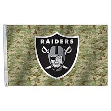 "Officially Licensed NFL 3"" x 5"" Camo Flag - Raiders"