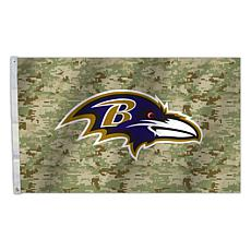 "Officially Licensed NFL 3"" x 5"" Camo Flag - Ravens"