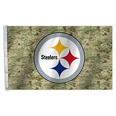 "Officially Licensed NFL 3"" x 5"" Camo Flag - Steelers"