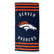 """Officially Licensed NFL 30"""" x 60"""" Stripes Beach Towel - Broncos"""