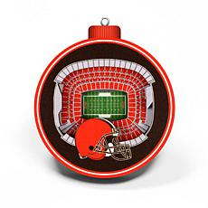 Officially Licensed NFL 3D StadiumView Ornament 2-pack - Cleveland