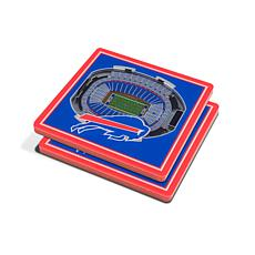 Officially Licensed NFL 3D StadiumViews Coaster Set - Buffalo Bills