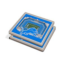 Officially Licensed NFL 3D StadiumViews Coasters - Detroit Lions