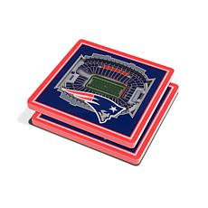 Officially Licensed NFL 3D StadiumViews Coasters- New England Patriots