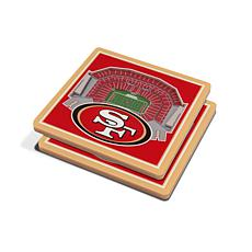 Officially Licensed NFL 3D StadiumViews Coasters - San Francisco 49...