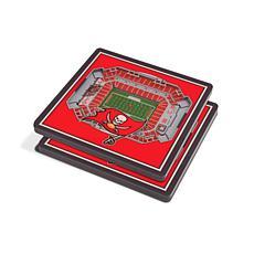 Officially Licensed NFL 3D StadiumViews Coasters- Tampa Bay Buccaneers