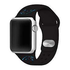 Officially Licensed NFL 42/44mm Apple Watch Band - Carolina Panthers