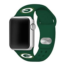 Officially Licensed NFL 42/44mm Apple Watch Band - Green Bay Packers