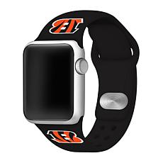 Officially Licensed NFL 42/44mm Apple Watch Med. Sport Band - Bengals