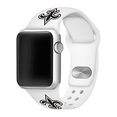 Officially Licensed NFL 42/44mm White Apple Watch Band- NO Saints