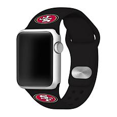 Officially Licensed NFL 42mm/44mm Apple Watch Med. Band - 49ers