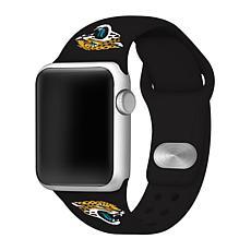 Officially Licensed NFL 42mm/44mm Apple Watch Med. Band - Jaguars