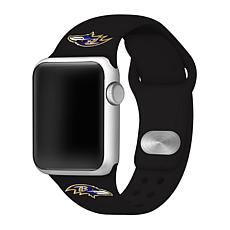 Officially Licensed NFL 42mm/44mm Apple Watch Med. Sport Band - Ravens