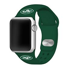 Officially Licensed NFL 42mm/44mm Apple Watch Med. Sport Band - Jets