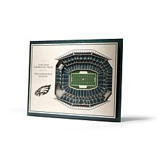 Officially Licensed NFL 5-Layer 3-D Wall Art - Philadelphia Eagles