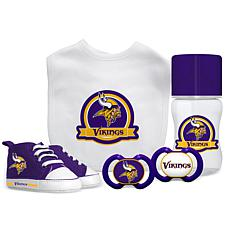 Officially Licensed NFL 5-piece Baby Gift Set - Minnesota Vikings