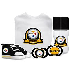 Officially Licensed NFL 5-piece Baby Gift Set - Pittsburgh Steelers