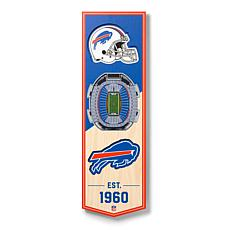 "Officially Licensed NFL 6"" x 19"" 3-D Stadium Banner - Buffalo Bills"