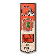 """Officially Licensed NFL 6"""" x 19"""" 3-D Stadium Banner - Cleveland Bro..."""