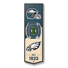 """Officially Licensed NFL 6x19"""" 3-D Stadium Banner - Philadelphia Eagles"""