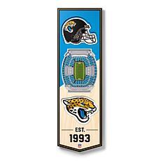 "Officially Licensed NFL 6x19"" 3D Stadium Banner - Jacksonville Jaguars"