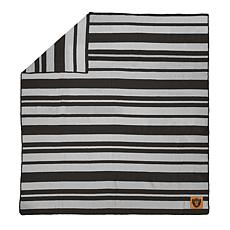 Officially Licensed NFL Acrylic Stripe Throw Blanket-Las Vegas Raiders