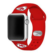 Officially Licensed NFL Apple Watch Sport Band 38/40mm - Chiefs
