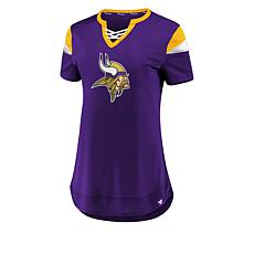 Officially Licensed NFL Athena Jersey Lace-Up Tee by Fanatics