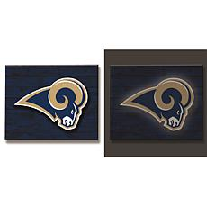 Officially Licensed NFL Backlit Wood Plank Wall Sign - Rams