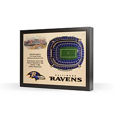 Officially Licensed NFL Baltimore Ravens StadiumView 3D Wall Art