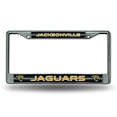 Officially Licensed NFL Bling Chrome Frame - Jaguars