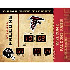 Officially Licensed NFL Bluetooth Scoreboard Wall Clock - Falcons