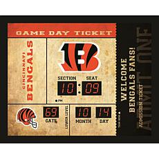 Officially Licensed NFL Bluetooth Scoreboard Wall Clock - Bengals