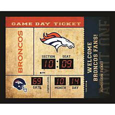 Officially Licensed NFL Bluetooth Scoreboard Wall Clock - Broncos
