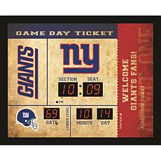 Officially Licensed NFL Bluetooth Scoreboard Wall Clock - Giants