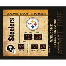 Officially Licensed NFL Bluetooth Scoreboard Wall Clock - Steelers
