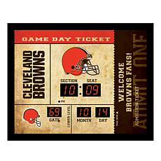 Officially Licensed NFL Bluetooth Wall Clock - Browns